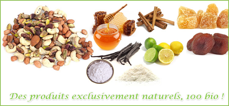 Produits exclusivement naturels, 100% bio