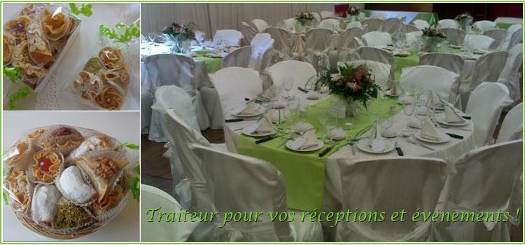 Traiteur pour vos réceptions, événements, mariages...